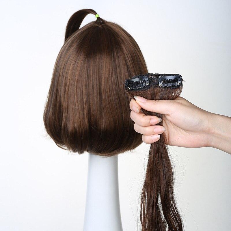 2 clips/1 pedaço Preto Branco marrom ouro longa peruca de cabelo encaracolado pedaço de cabelo extensão do Cabelo