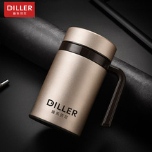 DILLER MLH8731 Thermos Double Wall 304L Stainless Steel Vacuum Flasks Thermos Cup Coffee Tea Milk Travel Mug Water Bottle
