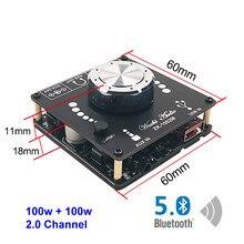 Amplificateur de puissance Audio numérique sans fil, Bluetooth 100, 100W + 5.0 W, classe D 20W ~ 200W, HiFi stéréo, 2.0 canaux, musique, carte son USB, ampli