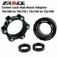 ZRACE frein disque verrouillage central moyeu Boost adaptateur  verrouillage central pour 6 trous 15x100 à 15x110  12x142 à 12x148 alliage d'aluminium|Moyeux de bicyclette|Sports et Loisirs -