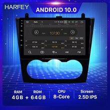 Harfey 9 inch 4 + 64GB 안드로이드 10.0 GPS 라디오 OEM HD 터치 스크린 닛산 Teana Altima 수동 A/C 2008 2012 헤드 유닛 USB WIFI