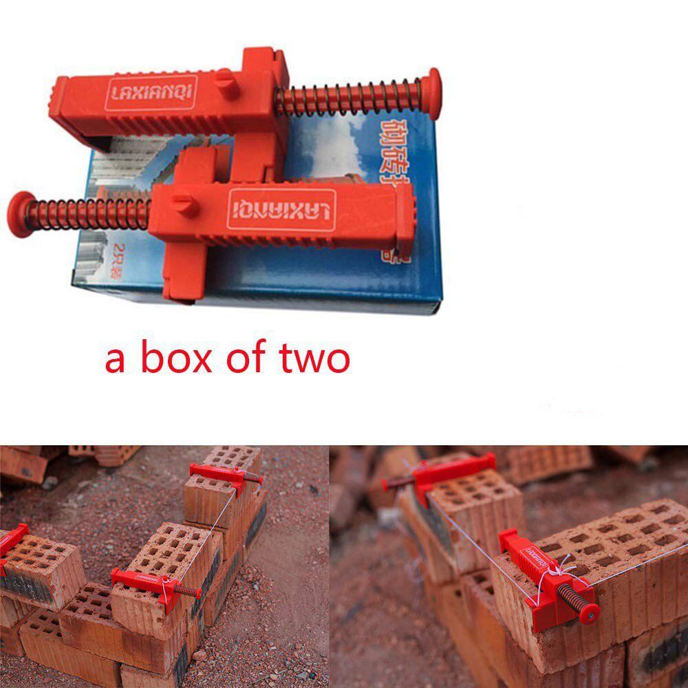 2pcs Strumenti di Costruzione per Muratori di Ingegneria di Plastica Bricklaying Linea Strumento di Disegno di Mattoni di Livellamento Strumento di Misura Muratore