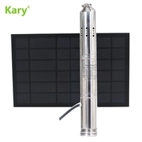 Kary 12v dc high pressure solar water pump for deep well 12V pumps lift 30m 1 inch outlet