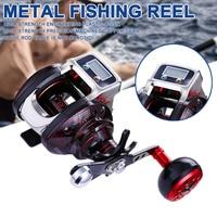 Spinning Fishing Reel Metal Fishing Reel Digital Display Rod Accessories Fishing Tool 14+1 6.3:1 Reel Boat Rock Fishing Wheel