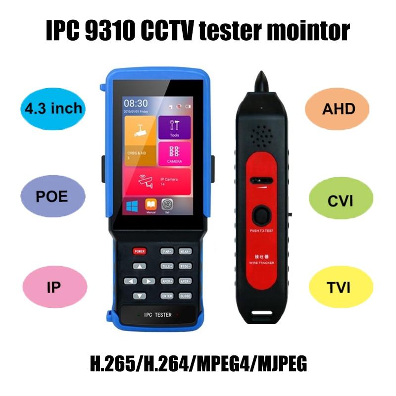 "IPC-9310 4,3 ""HD WiFi HD монитор AHD CVI TVI аналоговая CVBS RS485 5MP ip-камера поддерживает POE ONVIF 4K H.265 CCTV тестер безопасности"