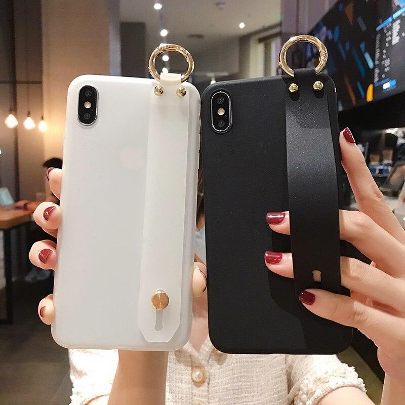 Wrist Strap Case For Xiaomi Redmi 4X K20 K30 Redmi Note 5 6 7 8 9 Pro Mi 9 8 5X 6X CC9 9T 9 Lite A3 Lite Poco X2 Soft TPU Cover