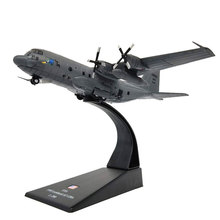 AMER 1/200 Scale AC-130 Gunship Ground-attack Aircraft Fighter Diecast Metal Military Plane Model Toy For Collection/Gift