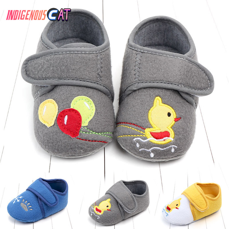 Newborns Baby Shoes Kid Girls Boy First Walkers Soft Infant Toddler Shoes Cute Flower Soles Crib Shoes Footwear For 0-1 Year