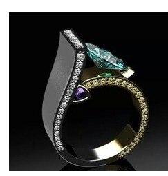2019 Fashion Modern Blue Crystal Geometric Shape D