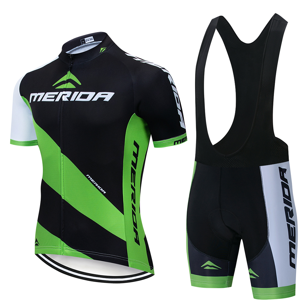 2020 MERIDAING Cycling Sets Bike Uniform Summer Cycling Jersey Set Road Bike Jerseys MTB Bike Wear Breathable Cycling Clothing