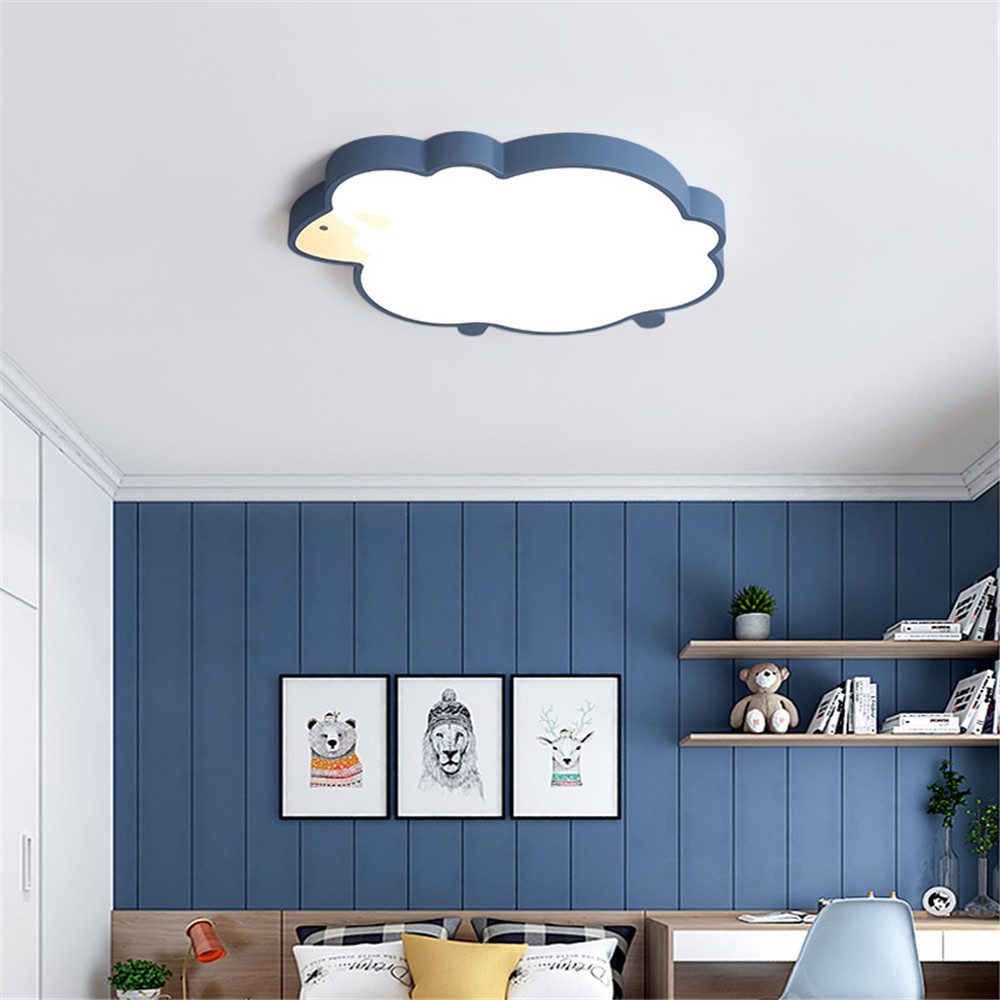 US $4.4 4% OFFNovelty sheep LED Ceiling Lights iron Ceiling Lamp lovely  children Baby kids bedroom light fixtures Colorful lighting AC45