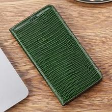 Lizard Grain Genuine Leather Case For Samsung Galaxy A3 A5 A6 A7 A8 A9 C5 C7 C9 Plus Pro 2017 2018 Magnetic Flip Cover