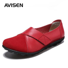 2019 Women Shoes Woman Flat Casual Low-top Comfort Loafers Slip On Plus Size Fashion Hook & Loop Ladies Shoes