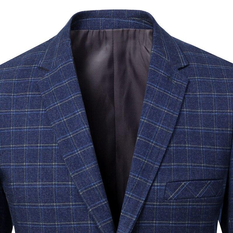 Гладкие лезвия Мужчины носить бронежилет и Тонкий Блейзер Куртка для двух швейцаров мужчин весной - 4
