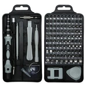 115 em 1 conjunto de chave de fenda mini precisão elétrica chave de fenda para iphone huawei tablet ipad casa conjunto de ferramentas|Estações de solda|   -