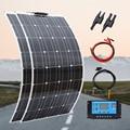 Гибкая солнечная панель 100 Вт 200 Вт портативное зарядное устройство 12 в домашний комплект моно для путешествий кемпинга pv RV автомобиля лодки...