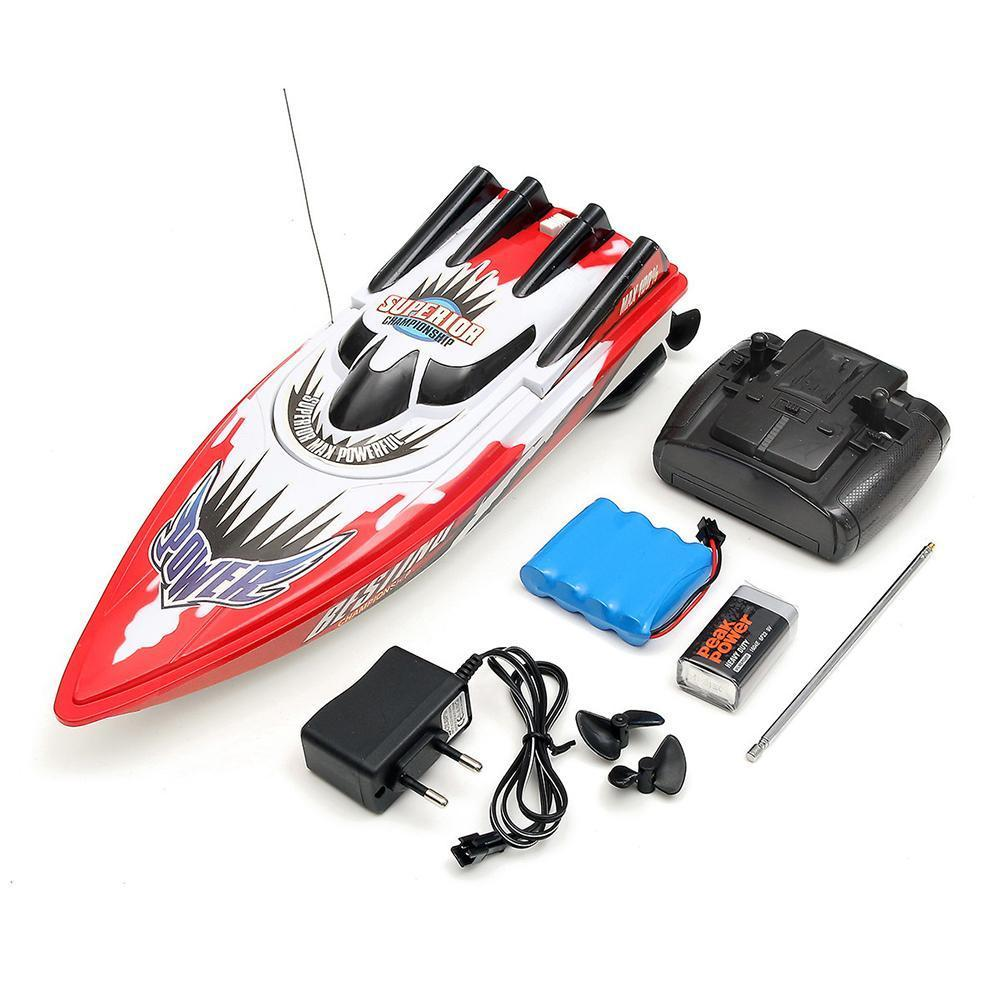 RC Boat Toy High Speed Racing Rechargeable Batteries For Children Boat Colors Control Remote Kids Gifts Two Christmas