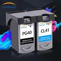 Unismar CL41 PG40 Cartouches D'encre pour Canon PG 40 CL 41 PG-40 Pixma iP1200 iP1800 iP1900 iP1600 MX300 MX310 MP160 MP140 Imprimantes