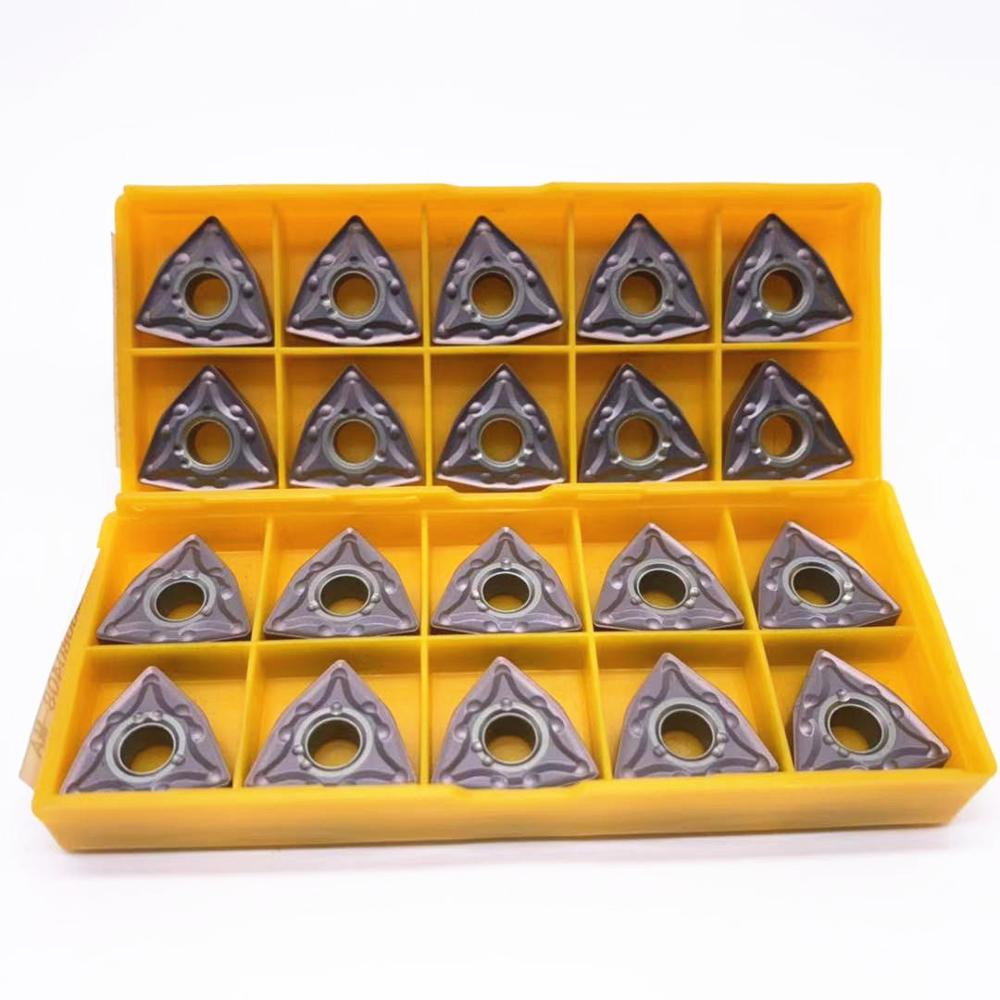 10PCS WNMG080408 MA VP15TF/US735/UE6020 External Turning Tools Carbide Insert Lathe Cutter Tool Tokarnyy Turning Insert