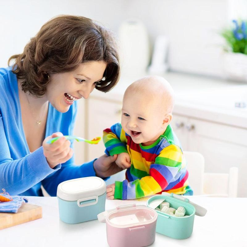 Portable Baby Food Storage Box Newborn Cereal Milk Powder Snacks Container Feeding Accessories With Silicone Seal Ring
