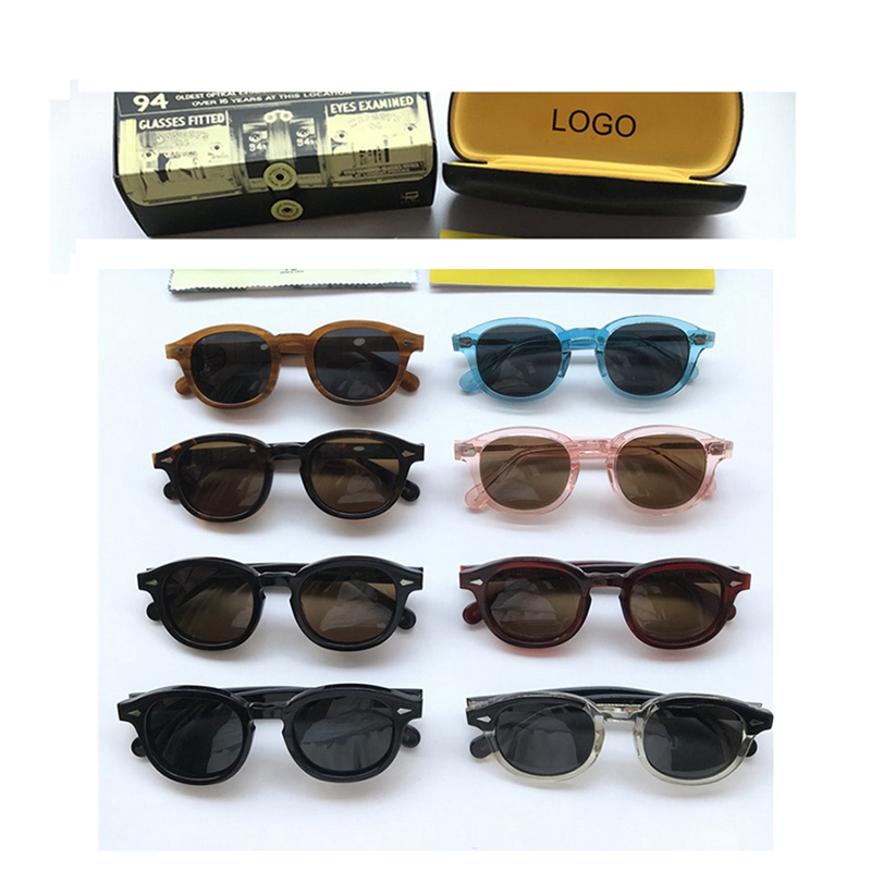 Polarized Sunglasses Men Women Johnny Depp Glasses Luxury Brand Design Acetate Vintage Style Driver Sunglasses Top Quality 0805