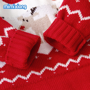 Image 5 - Baby Rompers Christmas Newborn Boys Girls Jumpsuits Costumes Cartoon Knitted Childrens Overalls One Piece Infant Kids Outfits