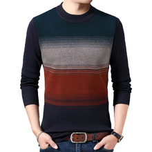 Sweater Men Patchwork Knitted Pullover Men Autumn Winter Warm Slim Fit Sweaters O-Neck Pull Homme Brand Clothes