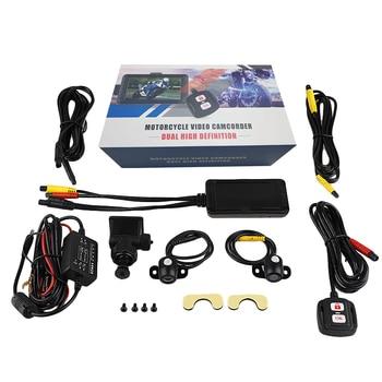 Grabadora de conducción para motocicleta SE100 3,0 LCD Full HD 1080P cámara de salpicadero DVR para motocicleta cámara de visión trasera frontal grabadora de vídeo para motocicleta 6 noches