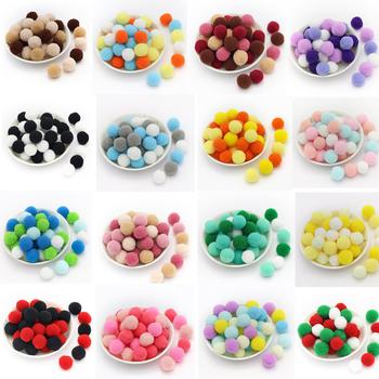 Ywzatgits 20-500 sztuk Pom kulki pompony rzemiosło artystyczne DIY zabawki Furball na dekoracje do domu na imprezę materiał do szycia YK0403 tanie i dobre opinie CN (pochodzenie) 20 36 50 144 288 500 pcs lot 8mm 10mm 15mm 20mm 25mm 30mm Pom Poms Balls Plush Crafts