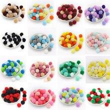 Ywzatgits 20-500 stücke Pom Pom Balls Kunst Handwerk DIY Spielzeug Furball Für Party Dekoration Nähen Material YK0403