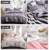King Queen Full Twin Size Pink Dandelions Home Bedding Set Pattern Flat Sheet Duvet High grade Cover Bed Sheet Pillowcase CF
