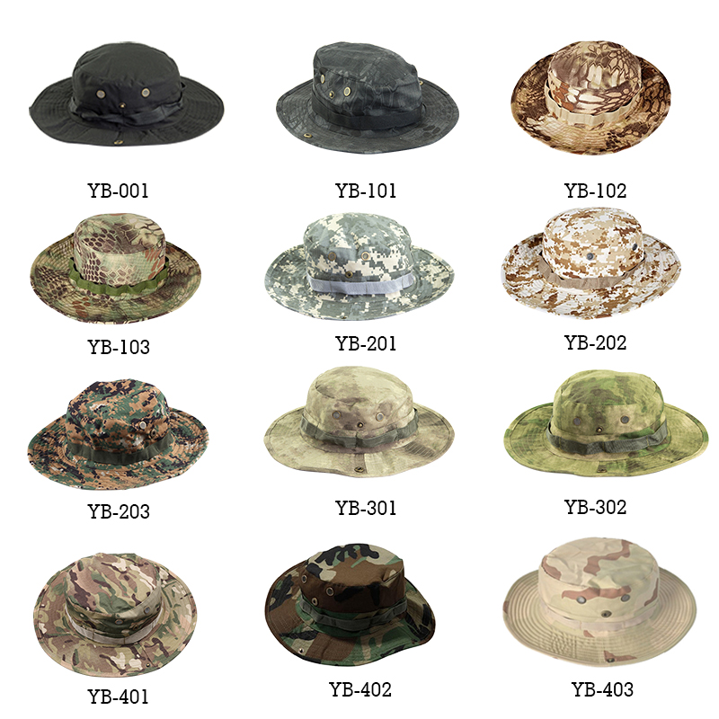 Multicam Tactical Airsoft Sniper Camouflage Bucket Boonie Hats Nepalese Cap SWAT Army Panama Military Accessories Summer Men 3