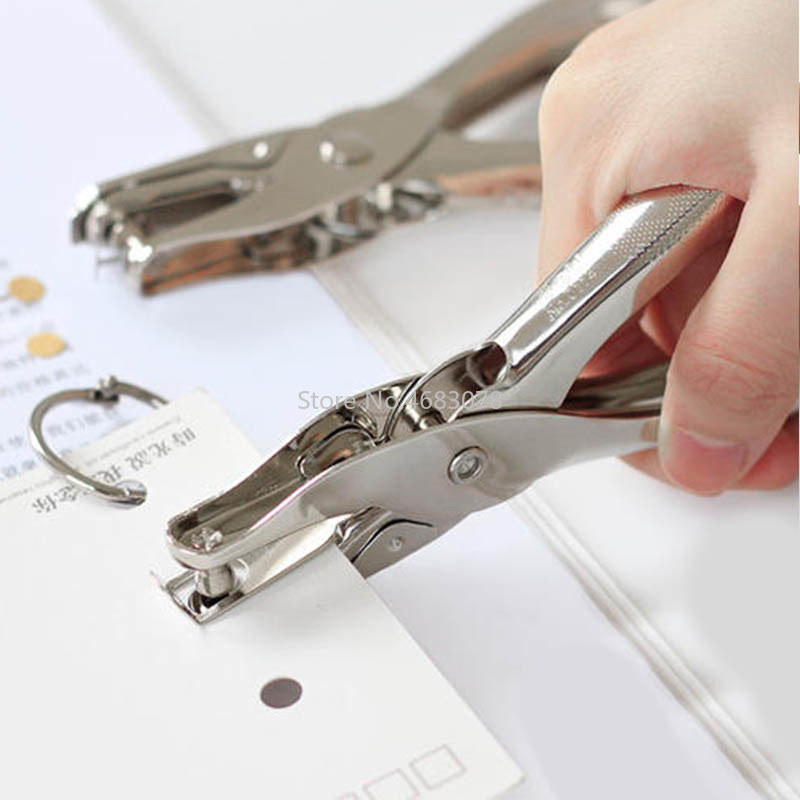 1Pcs Metal Hand-held Punch Diameter 3mm Business Card Tag Paper Punch Pliers Punch
