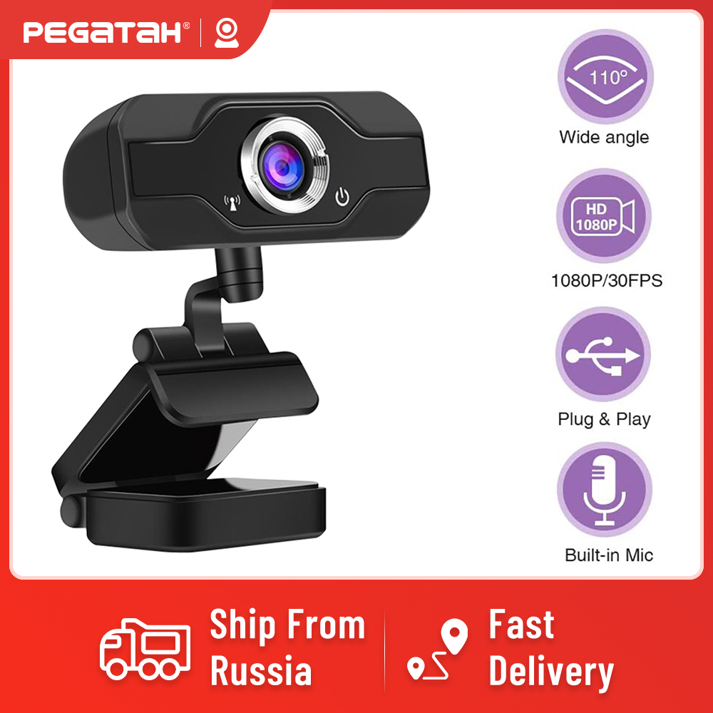 1080P Webcam Full HD Web cam with Microphone Web camera for PC Video Calling meeting Mini USB Camera