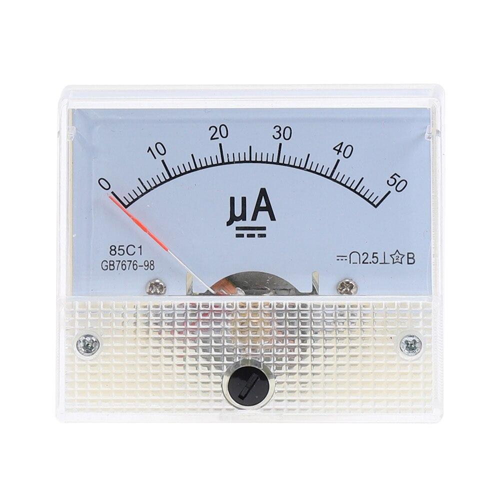 Аналоговый амперметр постоянного тока 85C1-UA 30uA 50uA 100uA 200uA 500uA, Аналоговый амперметр, панельный амперметр, измеритель тока, механический амперм...