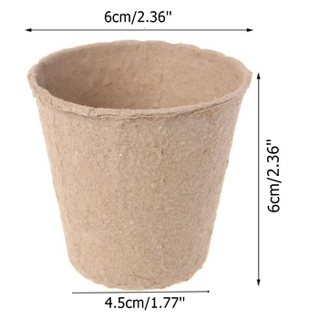 100Pieces 6cm Environmental protection Garden Round Peat Pots Plant Seedling Starters Cups Nursery Herb Seed Tray Planting Tools
