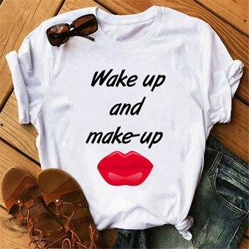 Boss-Camiseta con estampado de letra original para mujer, remera Sexy con estampado...