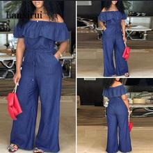 Lanxirui Rompers Women Jumpsuit Female Demin Pants Office La
