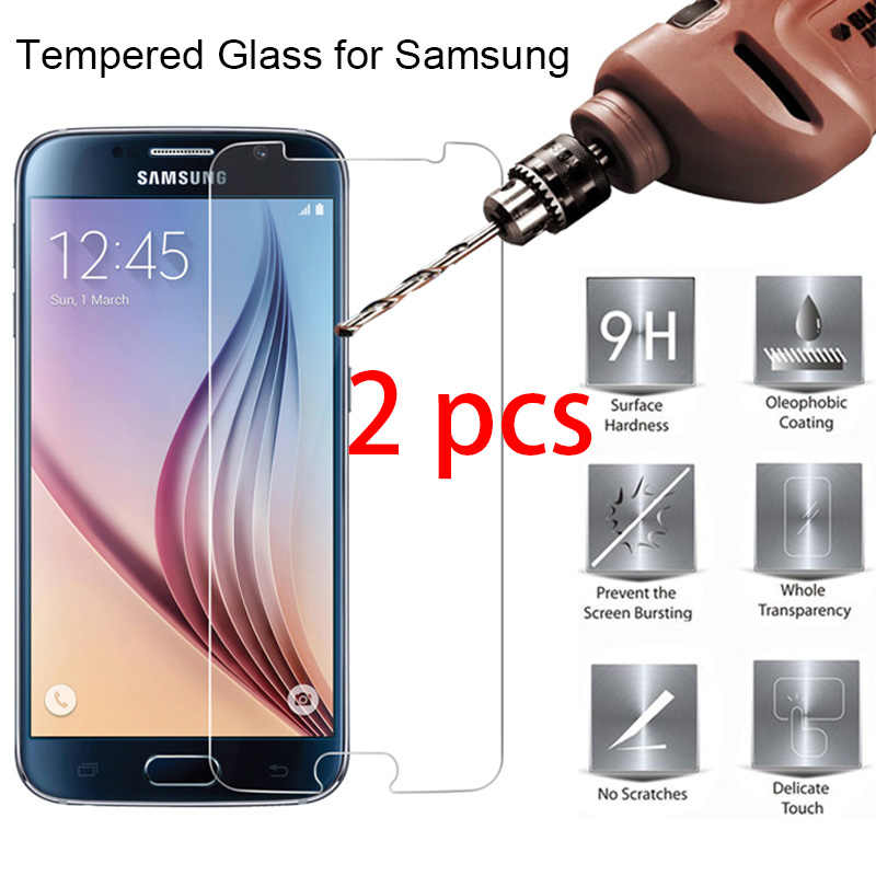 2pcs 9H Hard Tempered Protective Glass for Samsung J2 Pro 2018 J1 Ace Nxt HD Phone Screen Protector For Galaxy J1 Mini Prime