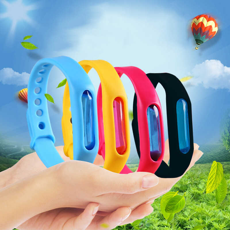 1PC Mosquito Killer Bracelet Silicone Wristband Summer Mosquito Repellent Bracelet Anti Mosquito Band Children Insect Killer