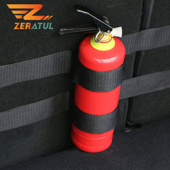 Zeratul for Peugeot 206 207 208 307 308 3008 2008 408 508 4008 for Fiat Punto 500 Cult Bravo Car Trunk Fire Extinguisher Sticker image
