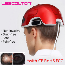 Lescolton Anti hair loss laser hair regrowth helmet for hair loss Medical Diodes Hair Regrow Treatment Hair Loss  LLLT Laser Cap