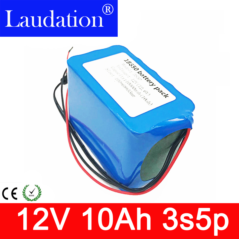 <font><b>12V</b></font> <font><b>10Ah</b></font> <font><b>Battery</b></font> 100% New High Capacity Protection 11.1V <font><b>12V</b></font> <font><b>Lithium</b></font> Rechargeable <font><b>Battery</b></font> 12.6V 10000mAh Capacity Hot Laudation image