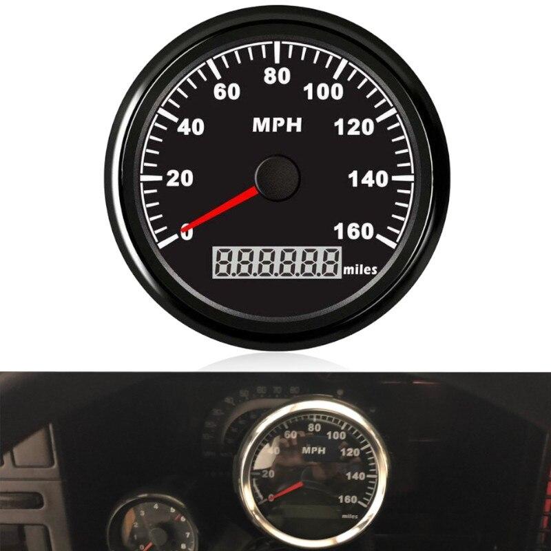Compteur de vitesse de GPS de moto de compteur de vitesse de gps de la voiture 85mm numérique 0-160MPH pour le Yacht marin de bateau avec le contre-jour rouge approprié pour BMW e53
