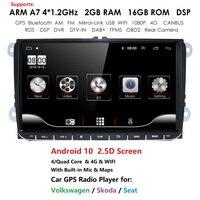 9 inch Car Android 10 Car radio GPS Auto radio 2 Din USB for VW Skoda Octavia golf 5 6 touran passat B6 jetta polo tiguan