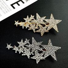 Cn полный драгоценный камень пятиконечная звезда заколки для