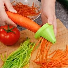 цена на 2pcs Kitchen Multi-functional Shredder Rotary Shredder Vegetable Planer Peel Peeler Spiral Shredder