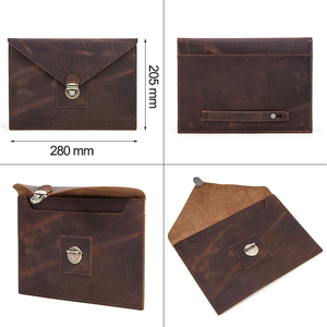 """Image 4 - Retro Genuine Leather Envelope Case For iPad Pro 10.5"""" Air 3 10.2"""" Bag For iPad Pro 11"""" 2020 sleeve case pouch with hand holder"""