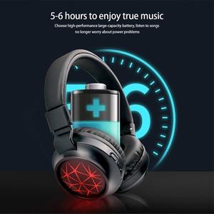 Image 3 - MS k21 נייד אלחוטי אוזניות Bluetooth סטריאו מתקפל אוזניות אודיו Mp3 מתכוונן אוזניות עם מיקרופון עבור מוסיקה