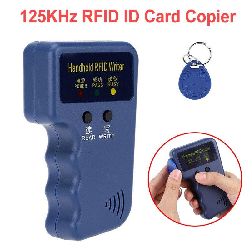 Handheld cartão de identificação 125 khz em4100 rfid copiadora escritor duplicador programador leitor correspondência gravável id keyfobs tag cartão chave cartões